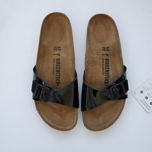 Birkenstock Madris Patent Leather Black size 40 9